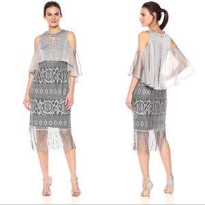 SL fashion fringe hem dress